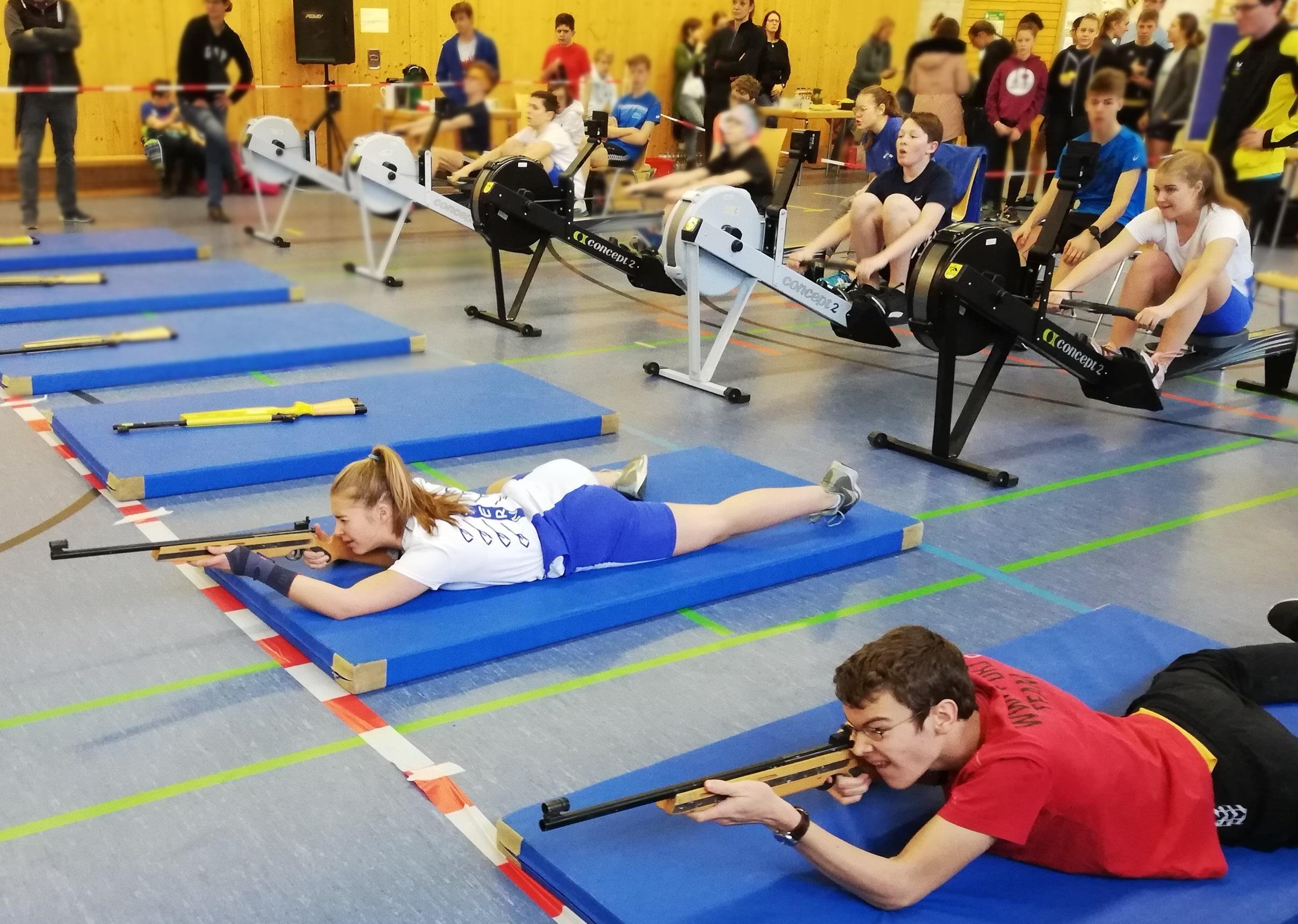 Weiß-blaue Erfolge beim Ergo-Biathlon