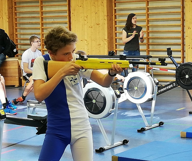 U15 Team der Ruderjugend gewinnt beim Ergo-Biathlon