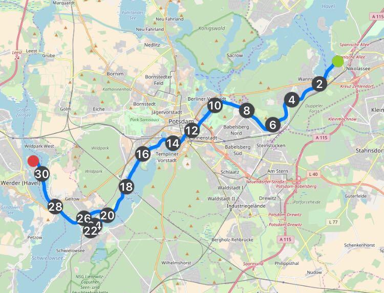 Rudertour auf der Havel